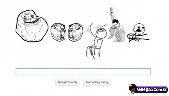 Se o google fizesse homenagem aos memes Google